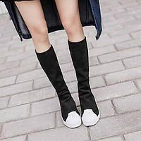 Оболочка головы толстой корочки булочки стрейч леггинсы значительные долговязые сапоги сапоги ботинки мартин женские модели обувь 05705561