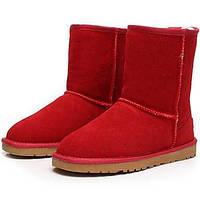 -Для женщин-Для прогулок Повседневный-Замша-На плоской подошве-Теплая зимняя обувь Модная обувь-Ботинки 05110913
