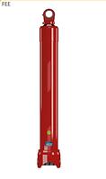 Гидроцилиндр телескопический одностороннего действия 5 штоков