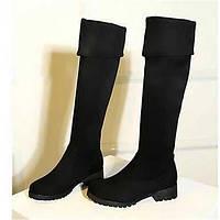 Для женщин Ботинки Удобная обувь Армейские ботинки Полиуретан Зима Повседневные Удобная обувь Армейские ботинки На плоской подошве Черный 05685261