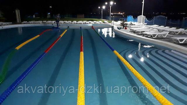 Двадцати пяти метровый цельнолитой композитный бассейн 25 м