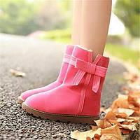 Для женщин Ботинки Удобная обувь Армейские ботинки Полиуретан Зима Повседневные Удобная обувь Армейские ботинки На плоской подошвеЧерный 05685257