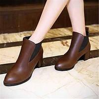 Для женщин Ботинки Удобная обувь Армейские ботинки Полиуретан Зима Повседневные Удобная обувь Армейские ботинки На плоской подошве 05685247