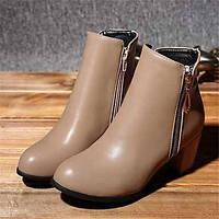 Для женщин Ботинки Удобная обувь Армейские ботинки Полиуретан Зима Повседневные Удобная обувь Армейские ботинки На плоской подошвеЧерный 05685250