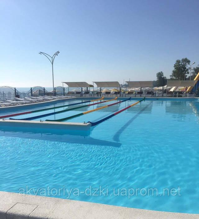 Тридцати-метровый композитный бассейн