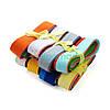Полоски обрезки корейского жесткого фетра 1.2 мм, 70*4 см, 10 шт, МИКС