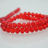 Бусины овальные (Rondelle) 3х4 мм Red. Цена за 1 шт