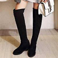 Для женщин Ботинки Туфли Мери-Джейн Полиуретан Зима Повседневные Туфли Мери-Джейн На плоской подошве Черный На плоской подошве 05683310
