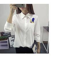 Блузка белая с Симпсоны