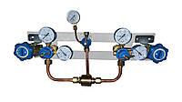 Щит переключения газовых рамп с сетевым редуктором (кислород)