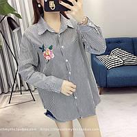 Блузка с вышивкой Роза
