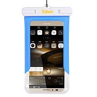 Водонепроникний чохол для смартфона Tuban з кріпленням на руку синій, фото 1