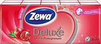 Носовые платочки Zewa Deluxe гранат 3 слоя, 10 * 10 (21х21см)