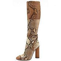 Несколько цветов - Женская обувь - Для офиса / Для праздника / На каждый день - Кожа - На толстом каблуке - Модная обувь - Ботинки 04339934
