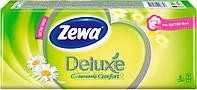 Носовые платочки Zewa Deluxe 3 слоя, 10 * 10 (21х21см)