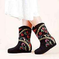 Для женщин Ботинки Удобная обувь Модная обувь Полотно Весна Осень Зима Повседневные Для праздника Для прогулок Удобная обувь Модная обувь 05490588