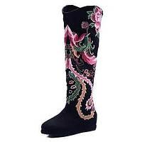 Для женщин Ботинки Удобная обувь Модная обувь Пляжная обувь Полотно Весна Осень Зима Повседневные Для праздника Для прогулокУдобная обувь 05540259