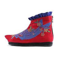 Для женщин Ботинки Удобная обувь Модная обувь Пляжная обувь Полотно Весна Осень Зима Повседневные Для праздника Для прогулокУдобная обувь 05490608