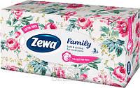 Косметические салфетки Zewa Family 3 слоя, 90 шт