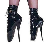 Черный / Белый - Женская обувь - Для вечеринки / ужина - Искусственная кожа - На шпильке - На каблуках / Модная обувь - Ботинки 01930720