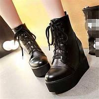 Для женщин Ботинки Удобная обувь Армейские ботинки Полиуретан Зима Повседневные Удобная обувь Армейские ботинки На плоской подошвеБелый 05684809