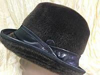 Мужская коричневая шляпа из искусственного меха нерпы 54-55 см