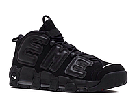 "Кроссовки Мужские Nike x Supreme Air More Uptempo ""Triple Black"""
