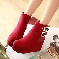 Для женщин Ботинки Удобная обувь Армейские ботинки Полиуретан Зима Повседневные Удобная обувь Армейские ботинки На плоской подошвеЧерный 05685094