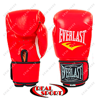 Боксерские перчатки PU на липучке Everlast BO-3987-R (р-р 10-12oz, красный)