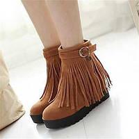 Для женщин Ботинки Удобная обувь Армейские ботинки Полиуретан Зима Повседневные Удобная обувь Армейские ботинки На плоской подошвеЖелтый 05685104