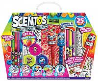 Ароматный набор для творчества Веселые Фрукты (ручки, маркеры, наклейки, масса для лепки) Scentos
