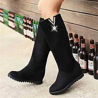Для женщин Ботинки Удобная обувь Армейские ботинки Полиуретан Зима Повседневные Удобная обувь Армейские ботинки На плоской подошвеЧерный 05685145