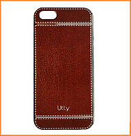 Чехол (накладка, бампер) Utty Pattern Electroplating на IPhone 7/8 Grey (02E)