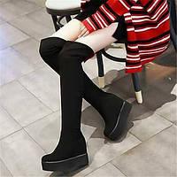 Для женщин Ботинки Удобная обувь Полиуретан Зима Повседневные Удобная обувь На плоской подошве Черный Красный На плоской подошве 05683336