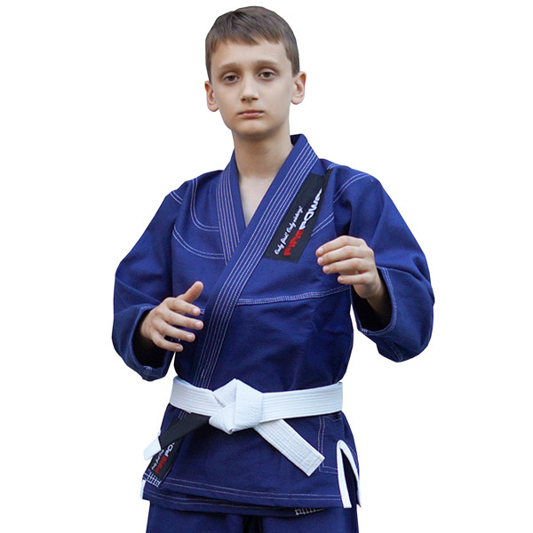 Кімоно дитяче для бразильського джиу-джитсу FIREPOWER New Kids 4.0 Темно-Синє
