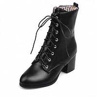 Для женщин БотинкиБотильоны Армейские ботинки Удобная обувь Оригинальная обувь В ковбойском стиле Зимние сапоги Верховые ботинки Модная 05411175