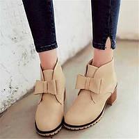 Для женщин Ботинки Удобная обувь Армейские ботинки Полиуретан Зима Повседневные Удобная обувь Армейские ботинки На плоской подошвеЧерный 05685255