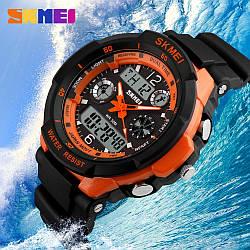 Тактические спортивные водонепроницаемые часы Skmei 0931 Оранжевый