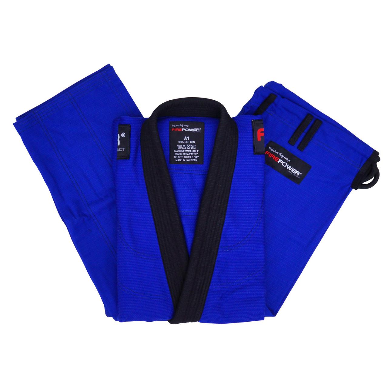 Кимоно для Бразильского Джиу-Джитсу Firepower Evolution Синее с черным