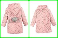 Детское демисезонное пальто на девочку в расцветках, р.98-116