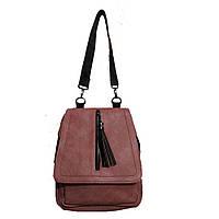Рюкзак-сумка молодежный городской пудровый (GS124)