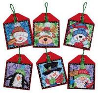 Набор для вышивания Dimensions 70-08842 рождественские украшения приятели Christmas Pals Ornaments