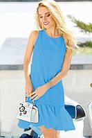 Стильное  платье с воланом на подоле идеально подходит к лету