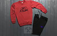 Мужской спортивный костюм Reebok красный с черным (люкс копия)