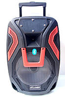 Колонка чемодан AT-Q15 с радиомикрофоном (USB/Bluetooth/FM)