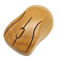 Бамбуковая компьютерная мышка оптическая беспроводная, фото 1