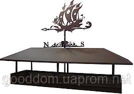 Колпак на дымоход с флюгером (корабль)