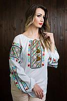 Женская вышитая блузка с длинными рукавами b-318
