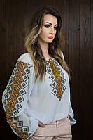 Оригинальная женская вышитая блузка больших размеров b-321
