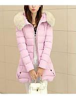 Пальто Простое Обычная На подкладке Женский,Однотонный На каждый день / Большие размеры Хлопок / Полиэстер Хлопок / Полиэстер,Длинный 05341402